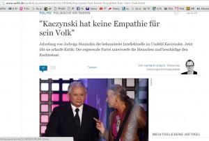 Jadwiga Staniszkis skarży się Niemcom.
